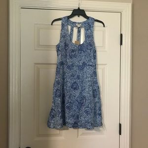 NWT Love Richie Blue and White Dress Large